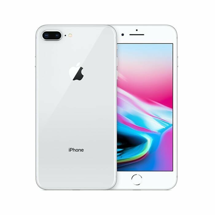 Iphone 8 plus recondicionado, cor prateado, com capacidade de 64 gb