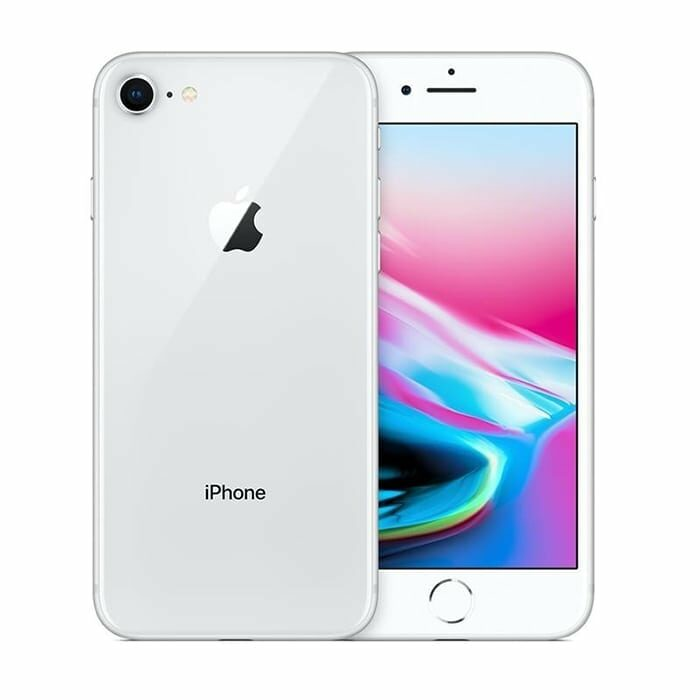 Iphone 8 recondicionado, cor prateado, com capacidade de 256 gb