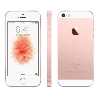 iphone se recondicionado, de cor rosa dourado e com 32 gb de capacidade
