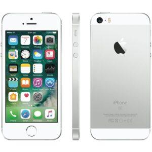 iphone se recondiconado, de cor prateado, com capacidade de 32gb