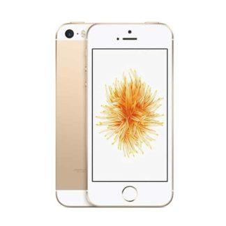 iphone se usado, de cor dourado, com capacidade de 64gb